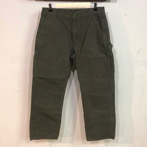 Carhartt green dungaree fit pants size 34/30